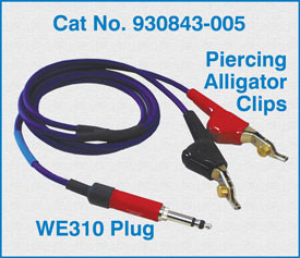 WE310 Plug to two telco Piercing Alligator Clips / 930843-005
