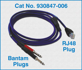 RJ48 Plug to two Bantam Plugs / 930847-006