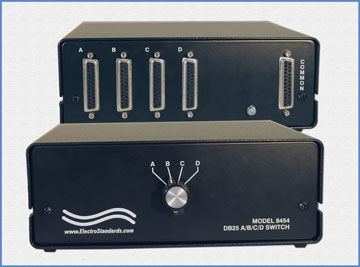 Model 8454 DB25 Audio Interface A/B/C/D Network Switch Box