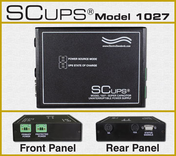 SCUPS® Model 1027 Super Capacitor Uniterruptible Power Supply