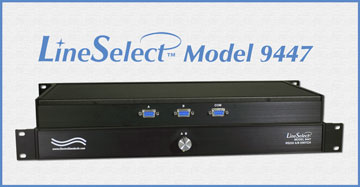 LineSelect™ Model 9447 DB9/RS232 A/B Switch, Manual, Rackmount