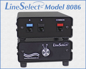 LineSelect™ Model 8086 RJ45  Cat6 A/B Switch, Manual Rotary switch